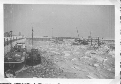 Haven van Doel in de winter