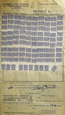Rantsoenzegels roomboter, 1945