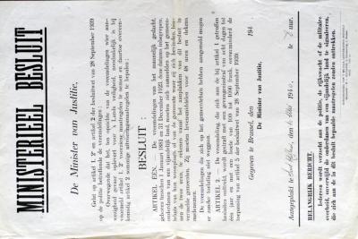 Ministerieel besluit van justitie, 10 mei 1940