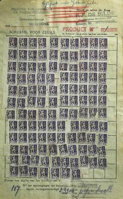 Rantsoenzegels peperkoek, 1945