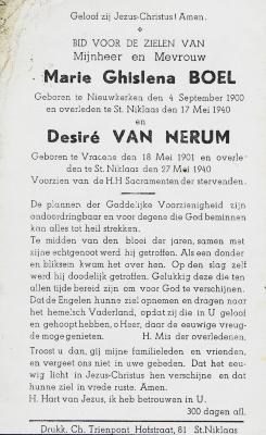 Slachtoffers bombardement Hofstraat, 17 mei 1940