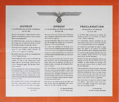 Drietalige mededeling van Duitse bevelhebber, 10 mei 1940