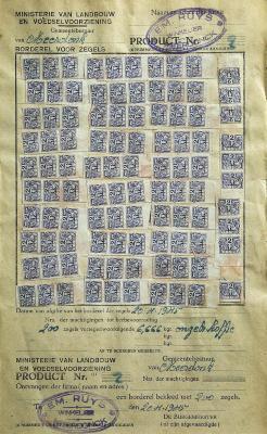 Rantsoenzegels koffie, 1945