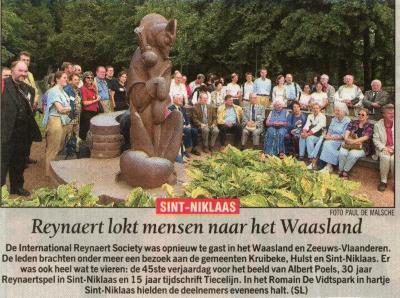 Reynaert lokt mensen naar het Waasland