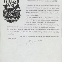Briefpapier met Reynaertexlibris van Jozef De Wilde
