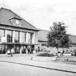 Station Lokeren, huidige stationsgebouw, jaren 1950