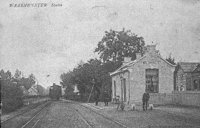 Spoorlijn 56 Sint-Niklaas-West - Dendermonde, station Waasmunster