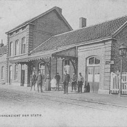 Spoorlijn 57A Sint-Gillis-Waas - Moerbeke, station Stekene