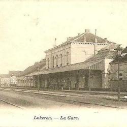 Station Lokeren, eerste stationsgebouw achterzijde