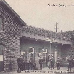 Spoorlijn 57A Sint-Gillis-Waas - Moerbeke, station Moerbeke