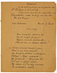 Huldelied uitgevoerd door het gemengd koor van Zwijndrecht