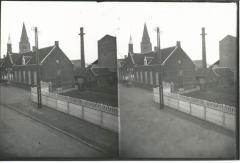 Kerkstraat Burcht: zicht op oud gemeentehuis