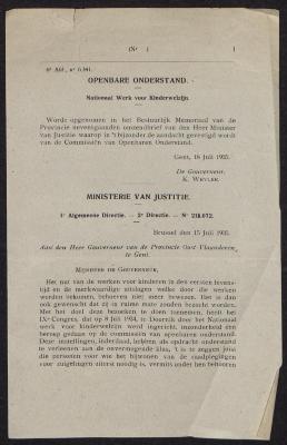Omzendbrief van Minister van Justitie