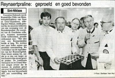 Reynaertspel 1992, Reynaertpraline
