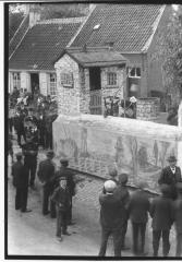 Historische Stoet (3): maquette oude boerderij