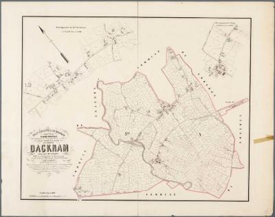 Popp-kaart: Plan parcellaire de la commune de Dacknam avec les mutations