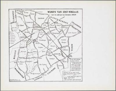 Wijken van Sint-Niklaas naar de oude kaart van Semeelen