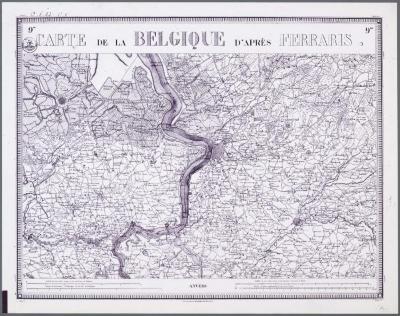 Carte de Belgique d'après Ferraris