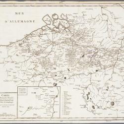 Carte du Hainault, Flandre, Brabant, Luxembourg et Païs de Limbourg