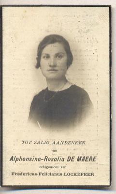 Alphonsina Rosalia De Maere