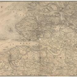 Kaart van Zeeland en de Scheldemonding