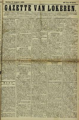 Gazette van Lokeren 14/08/1892