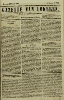 Gazette van Lokeren 23/03/1851