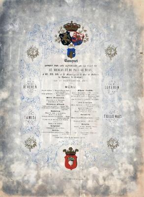 Banket koninklijk bezoek Sint-Niklaas, 17 september 1865
