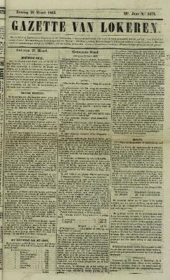 Gazette van Lokeren 26/03/1865