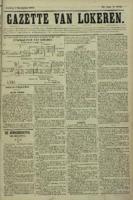 Gazette van Lokeren 05/09/1875