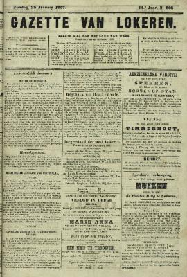 Gazette van Lokeren 25/01/1857