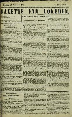 Gazette van Lokeren 26/11/1848