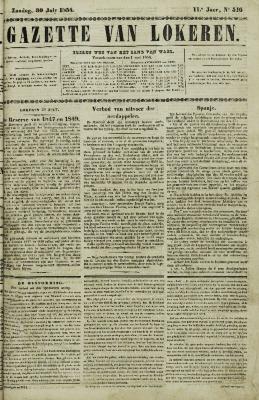 Gazette van Lokeren 30/07/1854