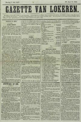 Gazette van Lokeren 09/07/1871