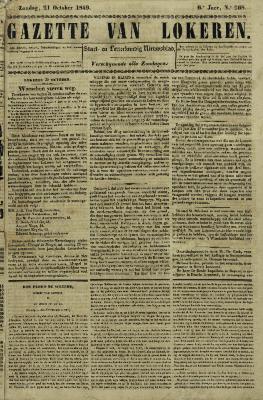 Gazette van Lokeren 21/10/1849