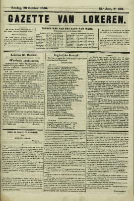 Gazette van Lokeren 26/10/1856