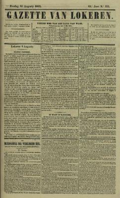 Gazette van Lokeren 10/08/1862