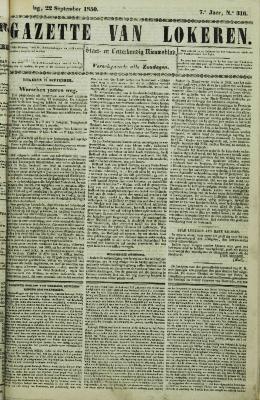 Gazette van Lokeren 22/09/1850