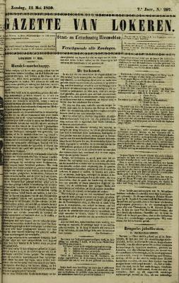 Gazette van Lokeren 12/05/1850