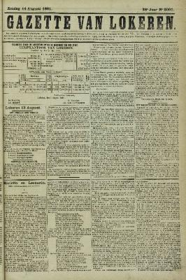 Gazette van Lokeren 14/08/1881