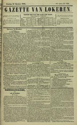 Gazette van Lokeren 26/10/1862