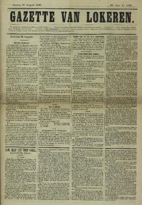 Gazette van Lokeren 27/08/1865