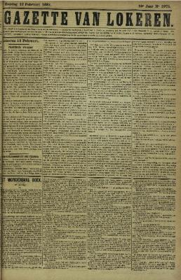 Gazette van Lokeren 13/02/1881