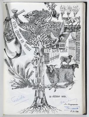 Bladzijde gulden boek Sint-Niklaas koninklijk bezoek, 26 oktober 1978