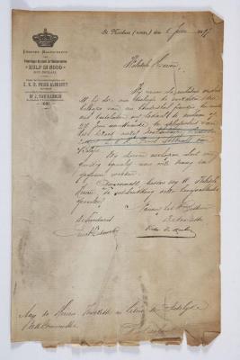 Verzoek toelage bezoek prins Albrecht te Sint-Niklaas, 1 juni 1897