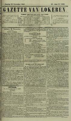 Gazette van Lokeren 29/11/1863