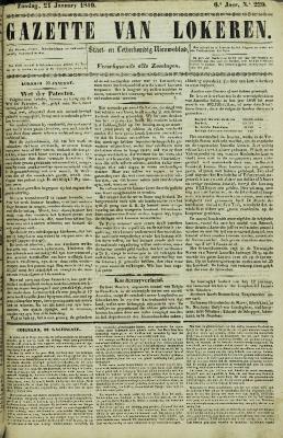 Gazette van Lokeren 21/01/1849