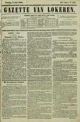 Gazette van Lokeren 02/07/1854