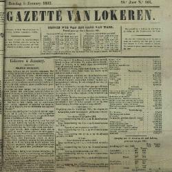Gazette van Lokeren 05/01/1862