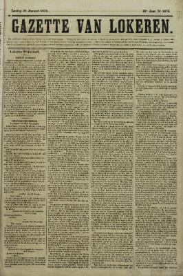 Gazette van Lokeren 30/01/1876